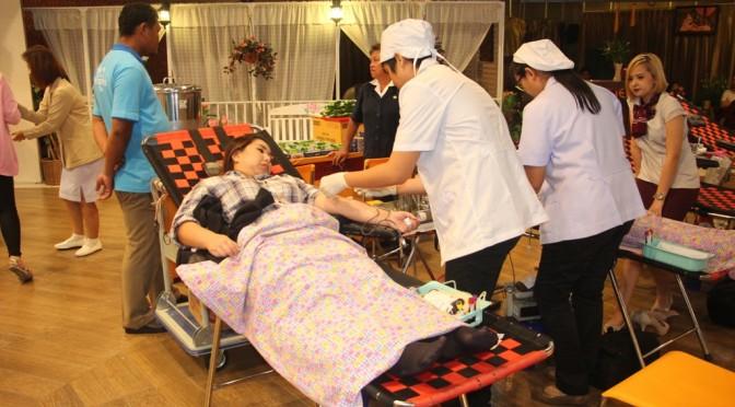 """""""ใจอาสา"""" บริจาคโลหิต เฉลิมพระเกียรติ 60 พรรษา องค์อุปนายิกา ผอ.สภากาชาดไทย"""