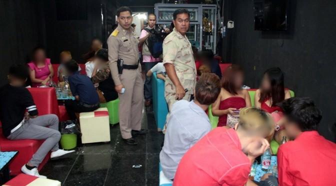 ฝ่ายปกครอง อ.บางละมุง ตรวจจับสถานบันเทิง 6 จุดทั่วเมืองพัทยา