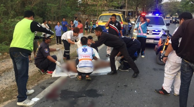 หนุ่มวัย 23 ปี ล่วงจากหลังรถกระบะ แท็กซี่วิ่งสวนมาเหยียบซ้ำดับสยอง