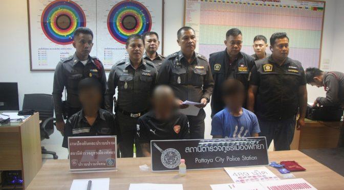 ผกก.พัทยา แถลงข่าวจับกุมยาเสพติด และอาวุธปืนไทยประดิษฐ์
