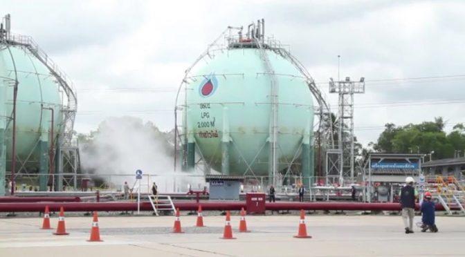 ปตท.คลังก๊าซบ้านโรงโป๊ะรับลูกกระทรวงแรงงานจัดกิจกรรมซ้อมแผนฉุกเฉินประจำปี 2559
