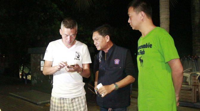 นักธุรกิจชาวจีนถูกกะเทยชายหาดพัทยาปลดสร้อยคอหลักแสนบาทหลบหนีลอยนวล