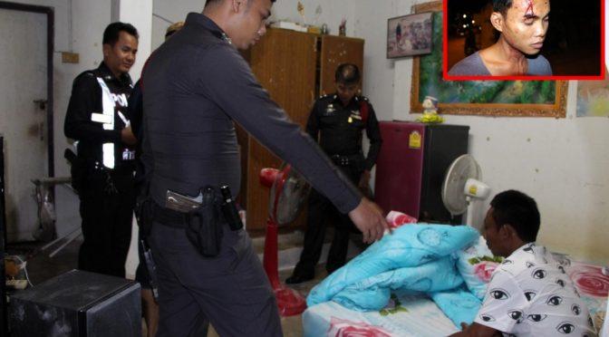 วินจยย. รับจ้างพัทยาสุดโหด หลังเมาเที่ยวสงกรานต์ควงปืนปลอมทุบหัวหนุ่มพนักงานโรงแรมเจ็บ